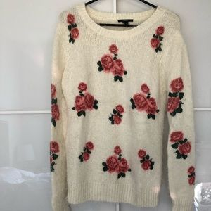 Floral Oversized Sweater